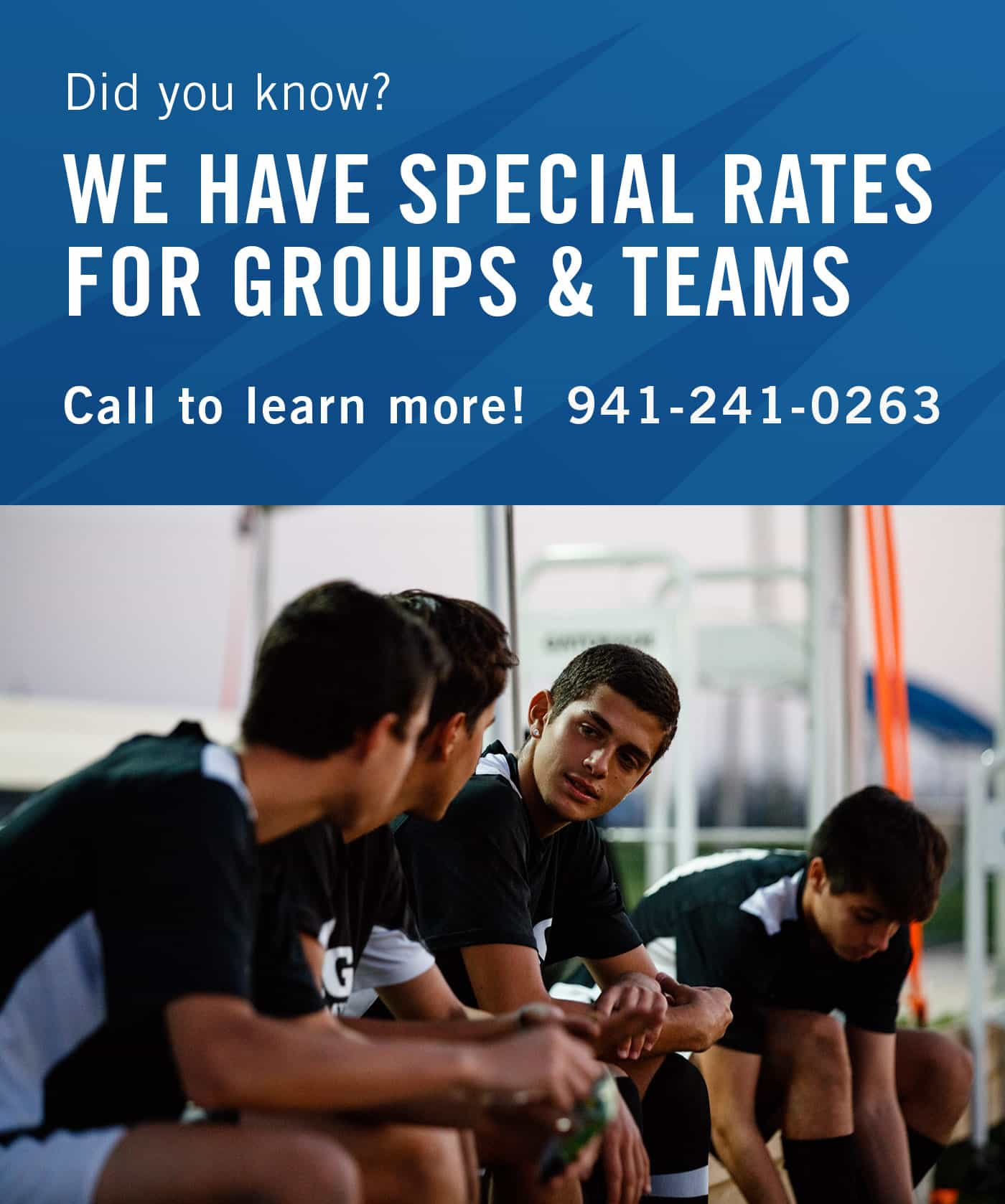 Call 1-941-241-0263 for Camp Group Discount Rates
