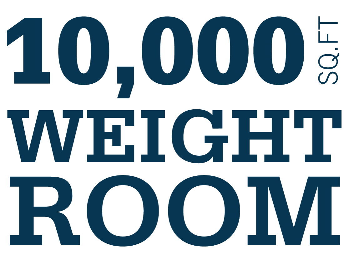 10,000 square foot weight room