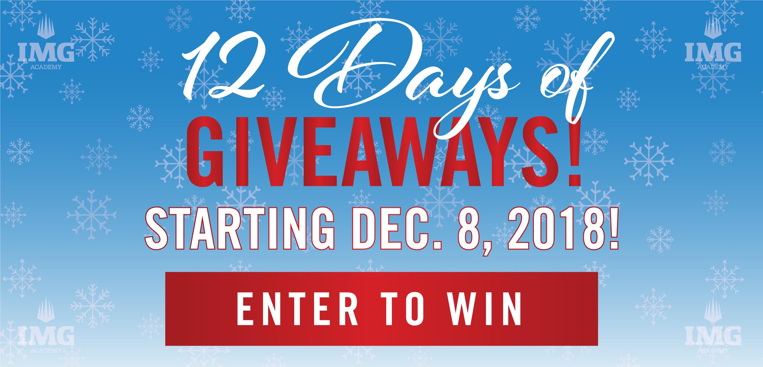 Enter to Win 12 Days of Giveaways