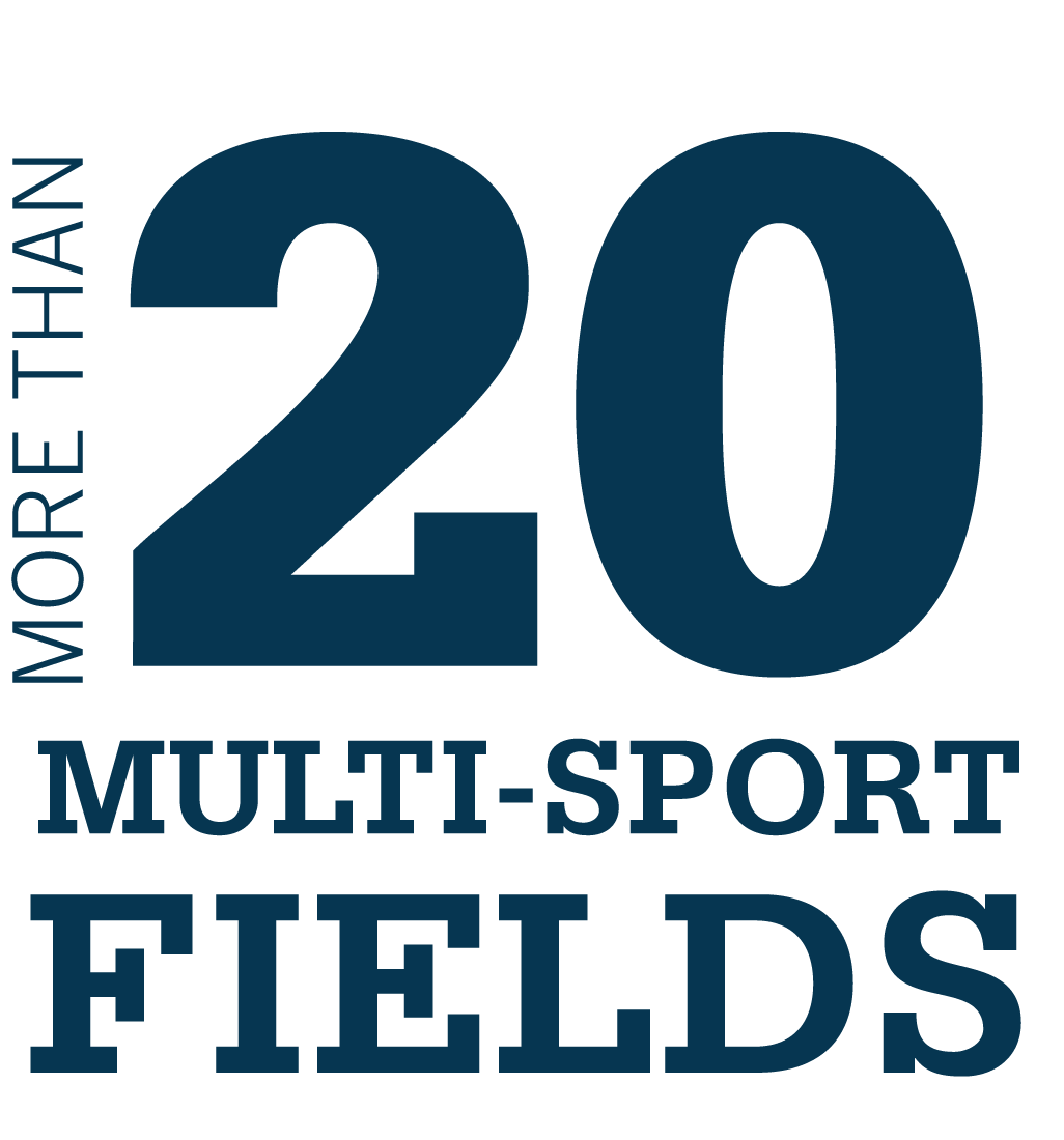 20+ multi-sport fields