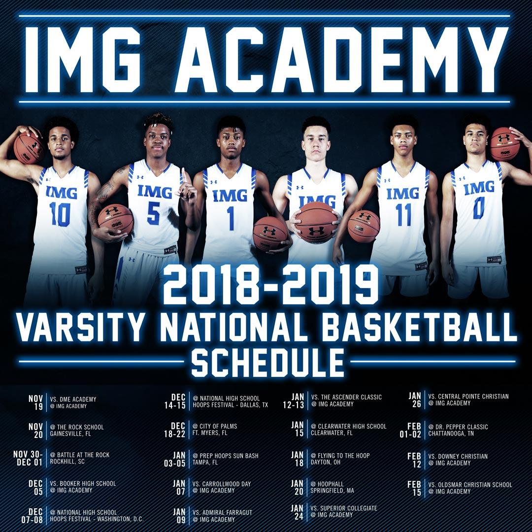 2018 2019 img academy basketball schedule
