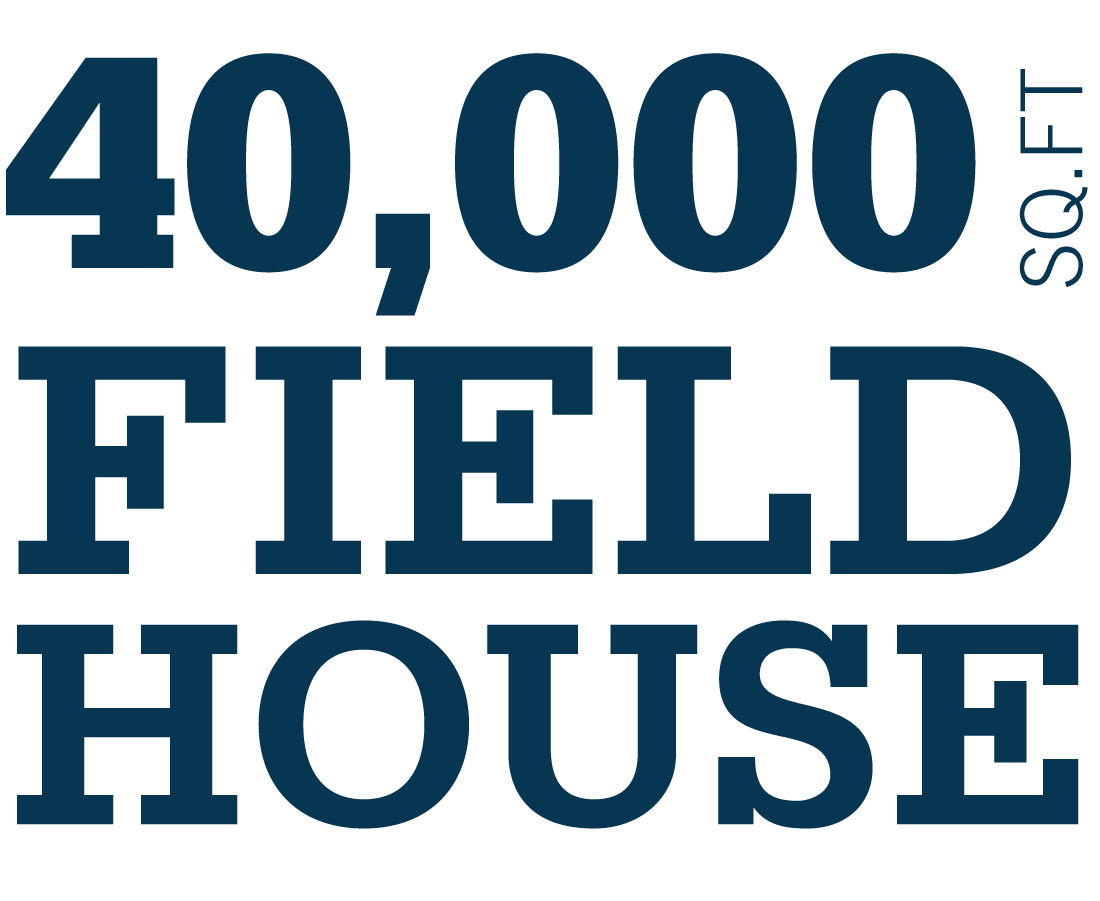 4,000 square foot field house