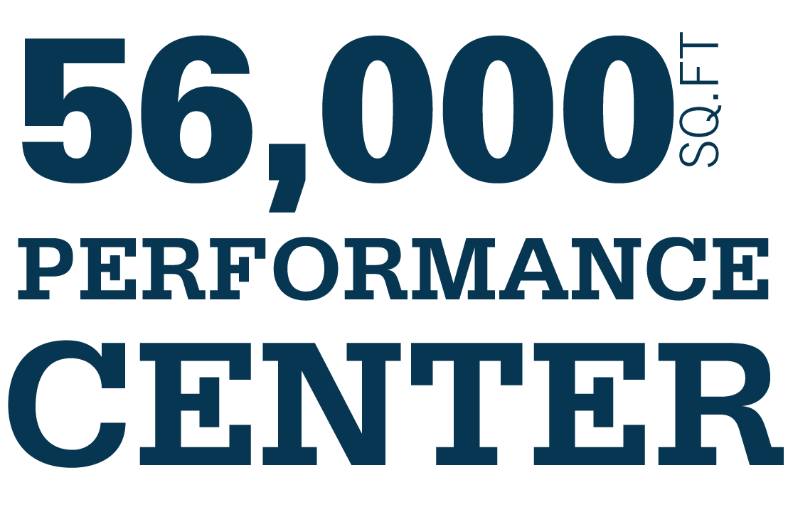 56,000 sq. ft. performance center