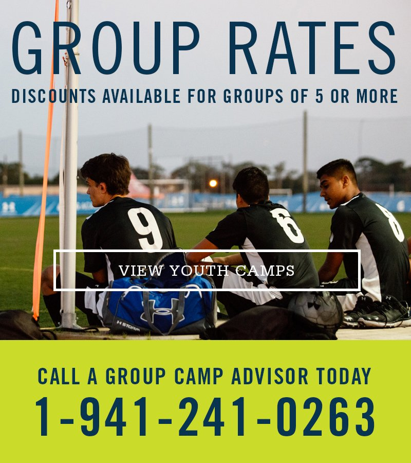 Discounts available for groups of five or more. Call a group camp advisor today at 941-241-0263