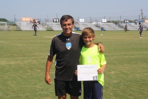 Tanner with Coach Marcelo Carrera