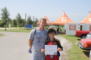 Max with Coach Tonio Paternostro
