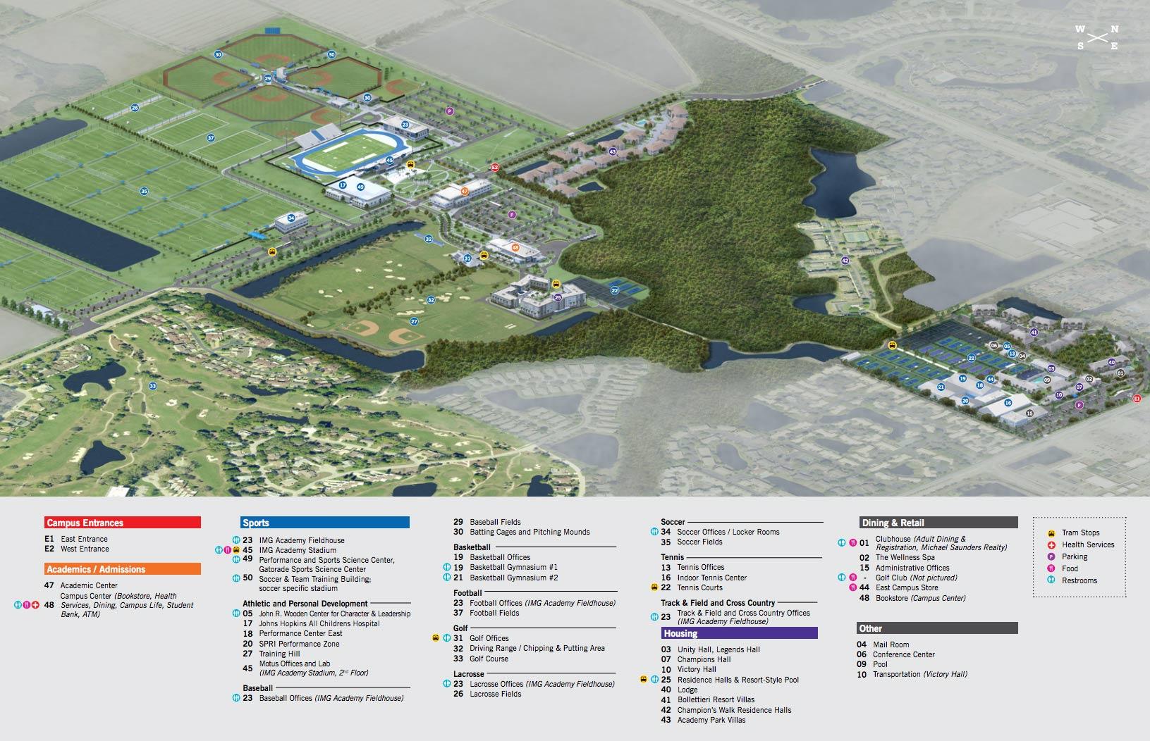 Jhh Campus Map.N S W E