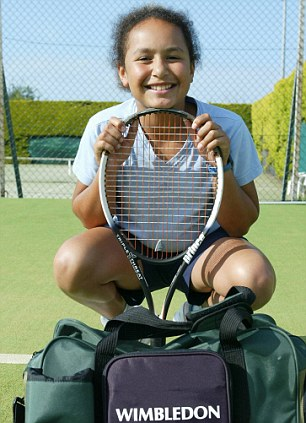 The ever-smiling Heather Watson as a smash hit at junior Wimbledon