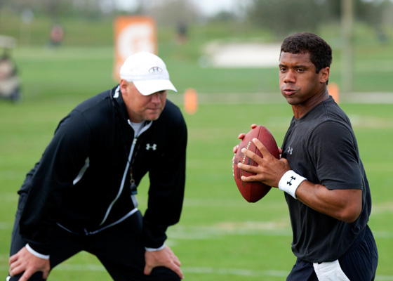 Russell Wilson has been working on his mechanics and training with IMG Academy football program director Chris Weinke.