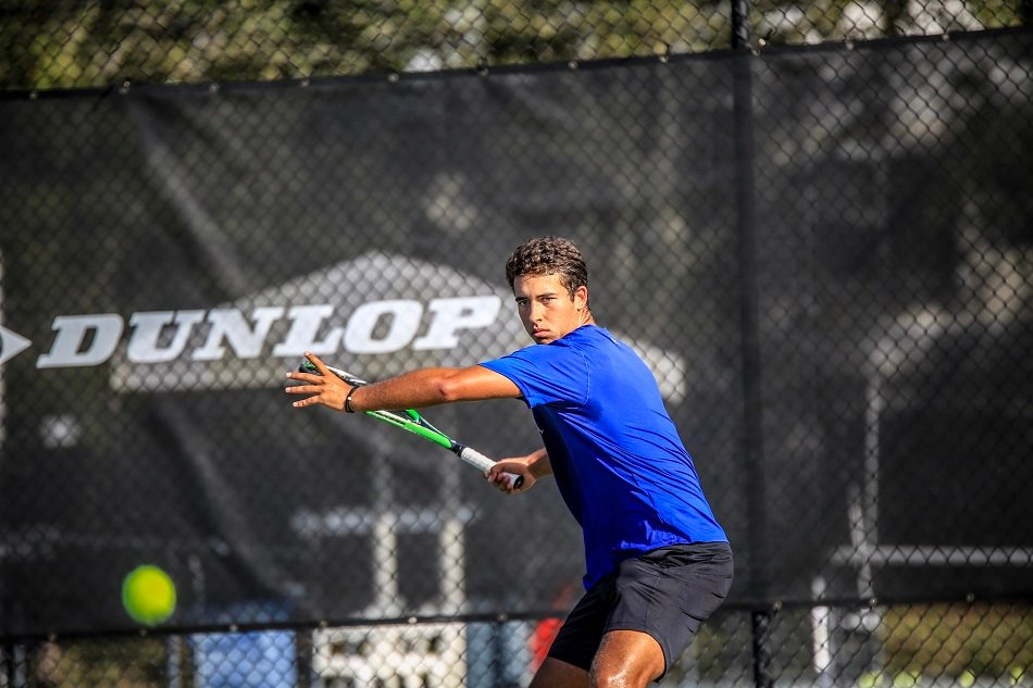 Tennis player hits a tennis shot | IMG Academy