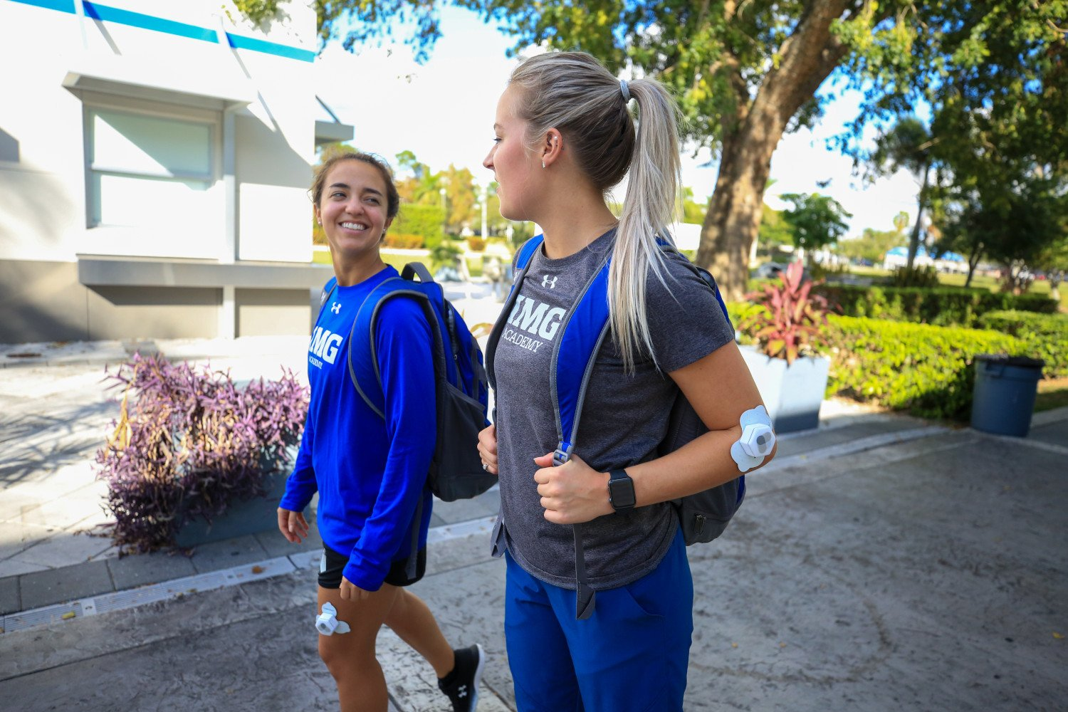two IMG Academy students demonstrate carewear products | IMGAcademy.com