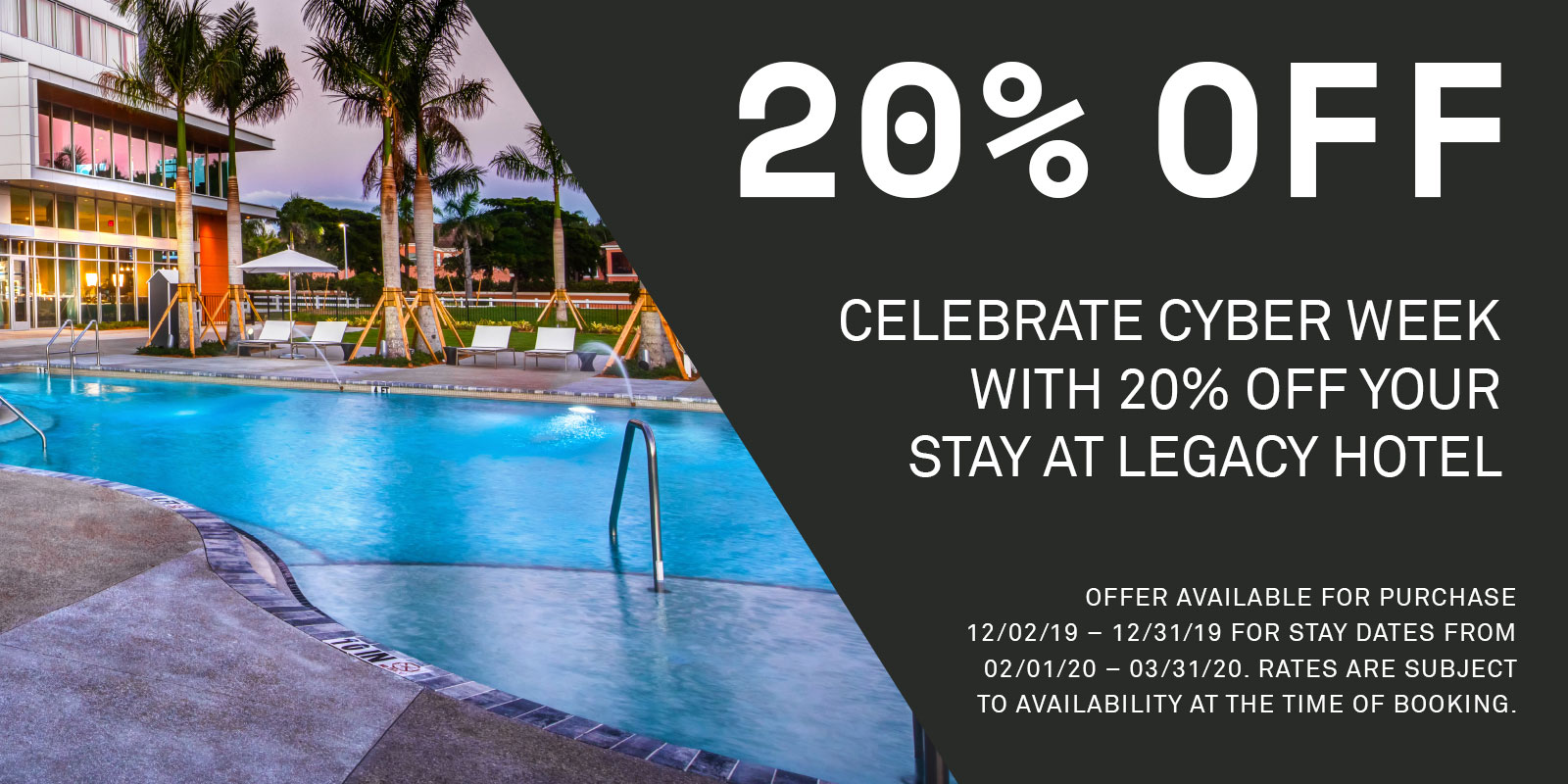 Save 25% at Legacy Hotel for Black Friday. Book now.